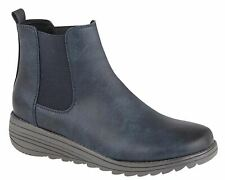 Ladies Womens Ankle Boots Gusset Inside Zip Memory Foam Shoes Size