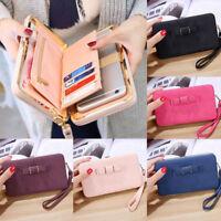 Women Long Wallet Clutch Handbag Fashion Coin Cash Purse Phone Card Holder Bags