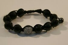 Genuine Austrian Crystal Macrame Adjustable Bracelet Luck Charm Hand Adult