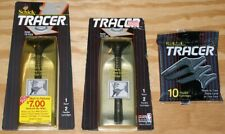 2 Schick TRACER Razor Handle Shaver 10 Flexible Cartridges 1990 1991 NOS Genuine