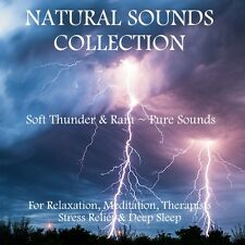NATURAL SOUNDS CD -SOFT THUNDER & RAIN FOR RELAXATION, MEDITATION, STRESS SLEEP