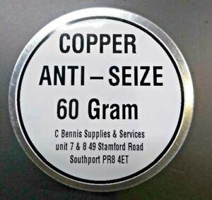 60 gram  NEW COPPER ANTI-SEIZE GREASE  HANDY SIZE 60 gram  TIN ** FREE POST **