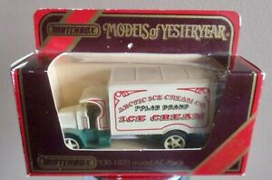 MATCHBOX MODELS OF YESTERYEAR Y30-C1 ARCTIC ICE CREAM + 1 free truck - see pics