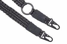 USA Seller - Adjustable 550 Paracord Rifle Gun Sling Strap HK Clip Black