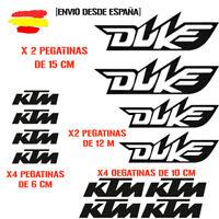 PEGATINA VINILO ADHESIVO KTM DUKE MOTO VINIL STICKER DECAL KIT DE 12 unds