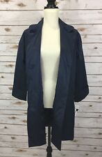 Helene Berman Women's Size M Bracelet Sleeve One-Button Coat Navy $275 E2-11