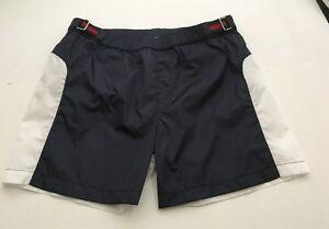 NWT 100% AUTH Gucci Boy Waterproof Nylon Swimming Trunk Blue/RedBlue Web Sz 10