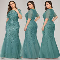 Ever-Pretty Mermaid Long Homecoming Dress Elegant Formal Wedding Guest Prom Gown
