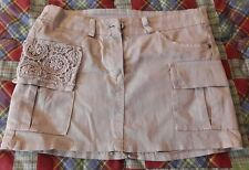 Minigonna Beige con tasca e decorazioni, taglia S