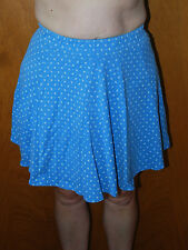 "Ladies Blue/White Flowers Short Skirt  from ""color circuit Mervyns"" M (10/12)"