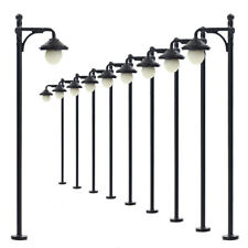 Lym22 10pcs Model Railway Train Lamp Post Street Lights HO OO Scale LEDs