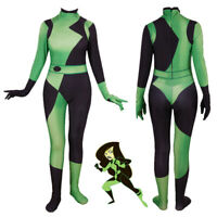 Kim Possible Shego Super Villain Cosplay Costume Bodysuit Suit Jumpsuits
