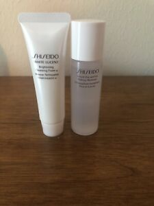 Shiseido White Lucent Brightening Cleanser and Instant Eye/Lip Makeup Remover
