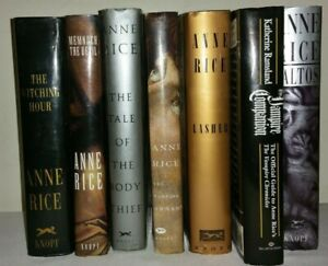 Lot of 7 First Edition Anne Rice Hardcovers