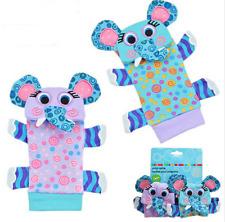 Babies Soft Handbells Strap 1 piece Infant Newborn Rattles Socks Animal Cartoon
