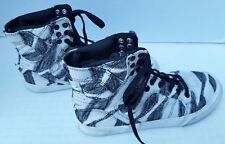 SUPRA Womens Sneaker Shoes High Top Canvas Black White 8 US 5.5 UK 39 EUR 18035