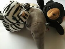 Ty Beanie Babies Lot Of 3 Ants 1997, Blizzard 1996 1 Error And Blackie 1994 A