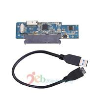 Super Speed USB 3.0 To SATA 22 Pin 2.5'' Hard Disk Driver SSD Adapter Card+Cable