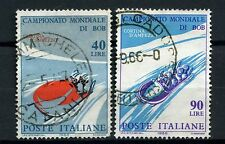 Italy 1966 SG#1148-9 Bobsleigh Championships Used Set #A53155