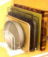 Kitchen Bakeware Rack Holder Cabinet Pantry Organizer Dish Pan Carrier Divider