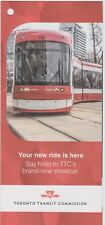 "TTC Toronto Intro New Streetcars 2014 ""Your New Ride"" Pamphlet Rail Flexity LRT"