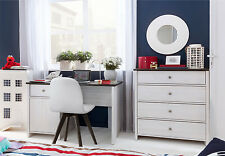 NEW Children's Bedroom Study Desk Furniture Set White washed Nautical Coastal PR