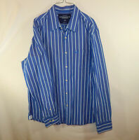 American Eagle Outfitters Mens Long Sleeve Casual Oxford Dress Shirt Size LARGE