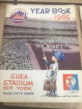 2 1965 New York Mets yearbooks 1 early addition 1 final so so condition
