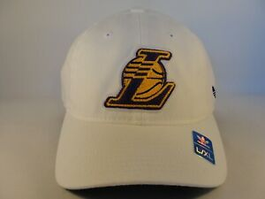 Los Angeles Lakers NBA Adidas Flex Hat Cap Size L/XL White