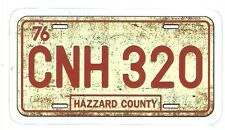 GENERAL LEE DUKES OF HAZZARD LICENSE PLATE   Sticker Decal