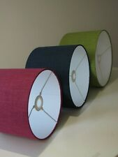Textured Woven Drum Lampshade Ceiling Light Shade Choice of Colours and Sizes
