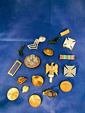 Vintage US Military Medals Buttons Pins Bar Ribbon Badges Lot C