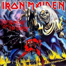 Iron Maiden - The Number Of The Beast Vinyl LP Cover Sticker or Magnet