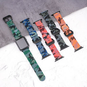 Camouflage Pattern Replacement Watch Strap for Apple Watch Series 6 5 4 3 2 1 SE