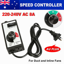 Variable Fan Router Speed Controller Hydroponics Inline Fan Exhaust Air 1800W
