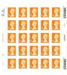 2021 GB 10p MACHIN Definitive full counter sheet of 25 M21L 16/03/21