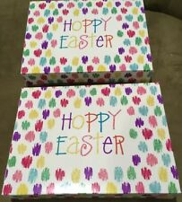 Easter Cute Bakery Boxes for Cupcakes Cookies Candy, Gifts, pk of 2@ LG Ship Inc