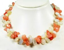 Gorgeous Splitter Chain Made of Gemstones Moonstone Two Row