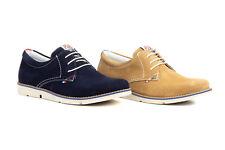 Zapatos Casual de Piel Serraje Hombre Marino Marrón talla 39 40 41 42 43 44 45