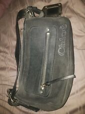 Chloe Bag black with silver hardware slight rip