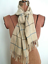 "71.5"" X 9.75"" Tan JOHNSTONS OF ELGIN Made In Scotland 100% CASHMERE Fringe Scarf"