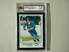 1981/82 TOPPS NHL HOCKEY CARD #39 PETER STASTNY KSA 7.5 NM+ SHARP!! 81/82 TOPPS