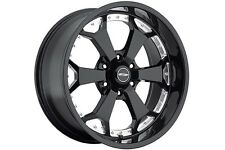 "20"" Pro Comp Offroad 8180 Black/Machined Wheels Rims 5x5.5 5x139.7"