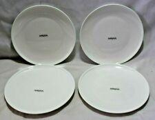 "Mikasa Aspen White Bone China 10 1/2"" Dinner Plates Set of Four New"