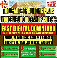 OVER 3000 DIY WOOD PROJECT PLANS HOUSES SHEDS WOODEN BUILDINGS INSTANT DOWNLOAD