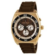 New Caravelle New York by Bulova 45A114 Mens Brown Dial Chronograph Quartz Watch