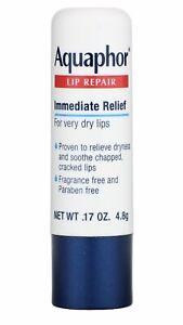 Aquaphor Lip Repair Stick Immediate Relief Fragrance Free Dry Chapped Lips