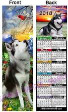 Alaskan Malamute 2018 Calendar Bookmark Fun Dog Husky Gift Pet Art Card Figurine