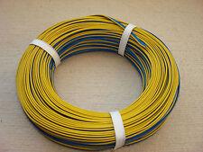 (0,34€/m)50 m Kabel Litze Drillingslitze 3 X 0,14 mm² blau/blau/gelb für Märklin