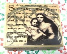 Rubber stamp Mother Mary Baby Jesus Silent Night Holy night Religious Christmas